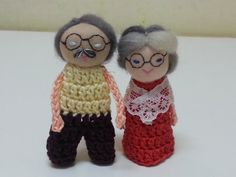 Grandpa and Grandma Finger Puppets by AubreyMade on Etsy, $19.00