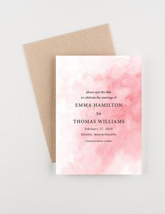 Pink Blush Watercolor Save The Date, Wedding Announcement or Bridal Shower Budget Wedding Invitations, Custom Invitations, Wedding Stationery, Engagement Invitations, Invitations Online, Invitation Design, Invitation Cards, Star Wedding, Trendy Wedding