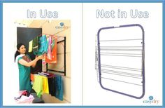 Easy Dry Systems Wall Stand is ideal for small and medium size clothes of the entire household Laundry Room Storage, Clothes Line, Floor Space, Space Saving, Wardrobe Rack, Small Spaces, Household, Medium, Simple