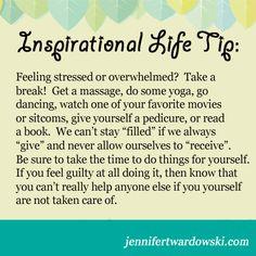 Feeling #stressed or #overwhelmed? Take a #break! For daily ...