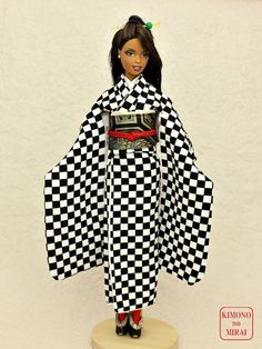*KIMONOnoMIRAI* Furisode for Barbie,dolls,Geisha,Japan #KIMONOnoMIRAI