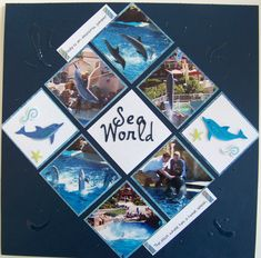 Sea World - Scrapbook.com scrapbook page layout #vacationscrapbook