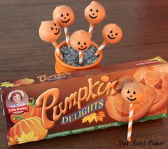 Check out these Pumpkin Pie Cake Pops made with Little Debbie Pumpkin Delights!