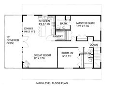 First Floor Plan of Garage Plan it souds weird but it looks comforable