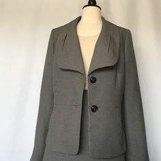 Evan-Picone suit   Size 12 New with tags on Evan Picone jacket and skirt suit from Macy's. Style Montpellier color Black/Sand Evan Picone Jackets & Coats