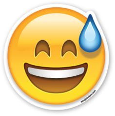 Smiling Face with Open Mouth and Cold Sweat | Emoji Stickers