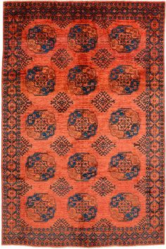 Rust Red 6 x 10 Afghan Ersari Oriental Rug Where To Buy Carpet, Staircase Makeover, Interior Rugs, Textiles, Afghan Rugs, Patterned Carpet, Modern Carpet, Tribal Rug, Tribal Style