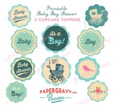 baby shower free cupcake toppers