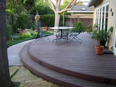 Round deck? Might work for the back yard..
