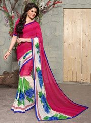 Pink Color Georgette Casual Party Sarees : Swagatika Collection  YF-41208