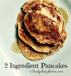 2 Ingredient Pancakes are an excellent clean eating breakfast recipe! So easy to make.