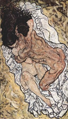 By Egon Schiele, 1917, The Accolade (El abrazo).