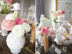 lots of flowers for this shabby chic tea party