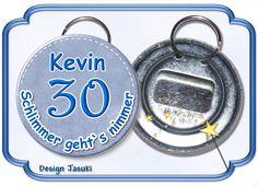 Flaschenöffner Schlüsselring, runder Geburtstag von Jasuki auf DaWanda.com
