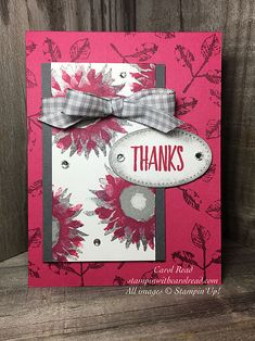 Painted Harvest -Thanks   Stampin Up Demonstrator   United States   Stampin' With Carol Read