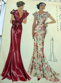 McCall ???? | 1930s Evening Dress