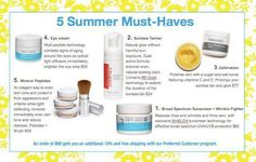 Chech out the 5 summer MUST HAVES. #RodanandFields  Visit my website www.magarcia.myrandf.com