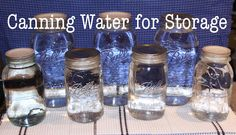 Some time ago I saw where people  were canning water to have on hand in case of an emergency. This made lots of sense to me (why buy water).However this summer I was doing A LOT of canning and…