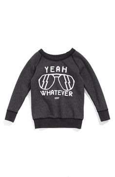 PREFRESH 'Yeah Whatever' Graphic Sweatshirt (Toddler Boys, Little Boys & Big Boys) (Online Only) available at #Nordstrom