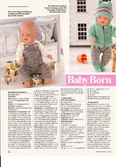 New baby born haakpatronen gratis ideas Baby Born Clothes, Girl Doll Clothes, Girl Dolls, Baby Dolls, Knitting Dolls Clothes, Crochet Doll Clothes, Doll Clothes Patterns, Knitted Doll Patterns, Knitted Dolls