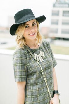 Lace & Wool | Sunday Brunch Look | Casual Look | Wool Hat Look | Lace up Flats | Uptown with Elly Brown