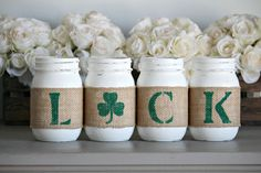 St Patrick's Day Rustic Home Decor , Irish Table Decor