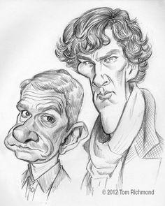 Freeman/Cumberbatch 2012 Tom Richmond. hahaha