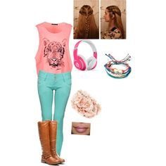 polyvore neon outfits | Fashion > Girly outfits >