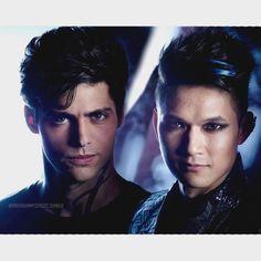 Shadowhunters ... fanart ... Alec Lightwood and Magnus Bane