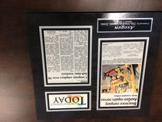 Axogen featured in Alachua Today.  Frame newspaper articles for display with In The News Inc.