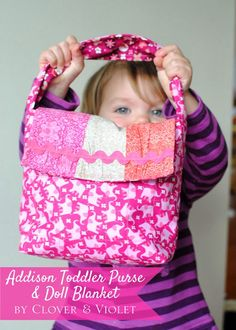 Sew in Love {with Fabric}: Holiday Gift Blog Hop Day 2 - Toddler Purse and Doll Blanket ~ The possibilities are endless with thousands of fabrics to choose from at the Fabric Shack at http://www.fabricshack.com/cgi-bin/Store/store.cgi
