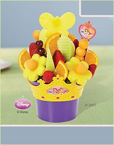 "For a princess party...Princess Berkli's party is coming up...our theme is ""Birthday for a Princess""...going to have to order this from Edible Arrangements!"