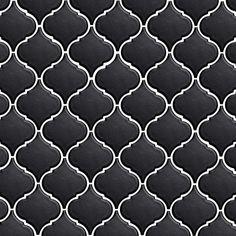 Black & White Moroccan Tile Pattern
