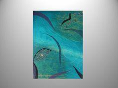 L'œil de la mer - Pittura in acrilico con dettagli materici su tela 70x50 http://ilmondodifam.wix.com/famou