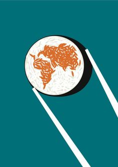 Continent outlines by Noma Bar