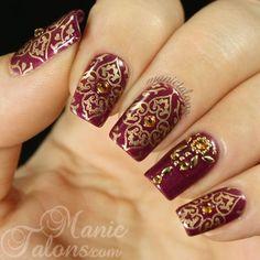 Ideas Wedding Nails Ideas Bridal Manicure The Bride Types Of Indian Nail Designs, Indian Nail Art, Indian Nails, Nail Art Designs, Indian Makeup, Indian Henna, Henna Designs, Bridal Nails Designs, Bridal Nail Art