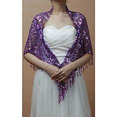 Purple Sequined Wrap