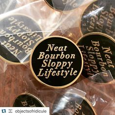 #Repost @objectsofridicule  Neat Bourbon Sloppy Lifestyle pins are now available in the shop! Link in bio.      #squadlit #pin #pins #enamelpins #enamelpin #lapelpin #lapelpins #pingame #pinlife #patchgame  #hatpin #hatpins #pingamestrong #pingameproper #pinnation #hatpinsforsale by bbllowwnn