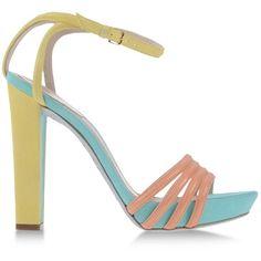 RENE' CAOVILLA Platform sandals ($770) ❤ liked on Polyvore