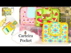 Tutorial Carteira Pocket - Karina Uzêda - YouTube Clear Bags, Cosmetic Pouch, Purse Patterns, Purse Wallet, Diy And Crafts, Sewing Projects, Patches, Weaving, Purses