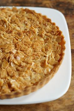 Portugese Amandeltaart - I am Cooking with Love - Best Pinsz Dessert Cake Recipes, Pie Dessert, Köstliche Desserts, Delicious Desserts, Baking Bad, Savory Pastry, Sweet Bakery, Big Cakes, Cooking