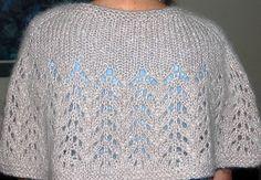 Diy Crafts - Ravelry: Knit Capelet pattern by Mary Jane Protus Crochet Capelet Pattern, Knitted Cape Pattern, Knitted Capelet, Knit Shrug, Knit Or Crochet, Crochet Shawl, Vogue Knitting, Lace Knitting, Knitting Patterns Free