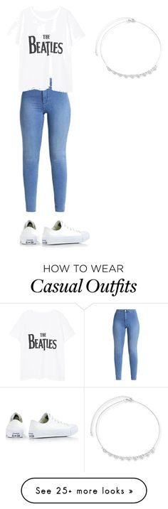 """Casual Look."" by alysonwerts on Polyvore featuring Violeta by Mango and Converse"