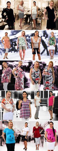 Reklámgrafika: Kismamadivat ruhakollekció