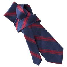 Target : Merona® Men's Tie - Navy/Red Stripe : Image Zoom