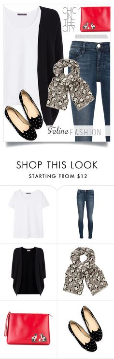 """""""cat-inspired fashion"""" by tawnee-tnt ❤ liked on Polyvore featuring Violeta by Mango, Frame Denim, Phase Eight, John Lewis, N°21, WithChic and catstyle"""
