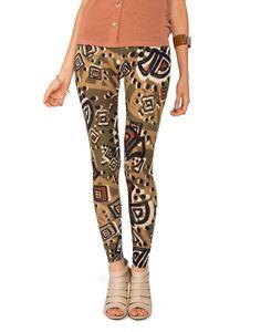 Scribbled Patterned Leggings