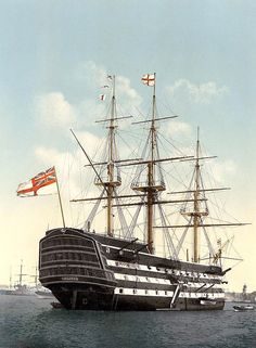 One of the most famous ships in the history of the Royal Navy (as seen above), Victory was the ship of Horatio Nelson when the British triumphed at the Battle of Trafalgar. Description from thortechnology.co.uk. I searched for this on bing.com/images