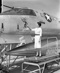 Have been unable to discover who this woman is. Was hoping it was Joan Elms, who recorded the B-58's aural warnings for Convair, but can't confirm.