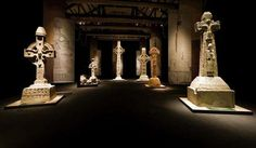Ancient High Crosses at the National Museum of Ireland in Dublin